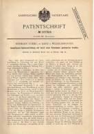 Original Patentschrift - L. Stiebig In Band B. Wilhelmshaven , 1899 , Dampfkessel - Speisevorrichtung !!! - Historische Dokumente