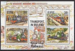 IRLANDE 1995 - TRansports Irlandais, Le Train - BF Neuf // Mnh - Blocs-feuillets