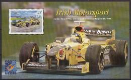 IRLANDE 2001 - F1 Grand Prix De Belgique 2001, BF Surchargé Belgica 2001 - BF Neuf // Mnh Très Rare - Blocchi & Foglietti