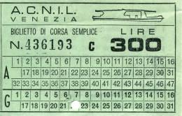 VENEZIA A.C.N.I.L. CORSA SEMPLICE MOTOSCAFO LIRE 300 1979 - Non Classificati