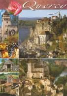 Cp , 46 , QUERCY , Multi-vues , Voyagée , Ed : Apa-Poux - France