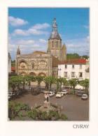 Cp , 86 , CIVRAY , Place Et Eglise Saint-Nicolas , Vierge , Ed : Combier - Civray