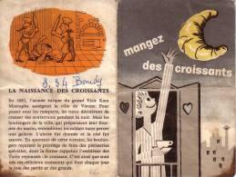 PLAN DU METRO DE PARIS AVEC PUB ORIGINE DES CROISSANTS. - Old Paper