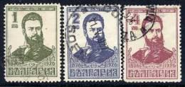 BULGARIA 1926 Botev Set  Used.  Michel 196-98 - Used Stamps