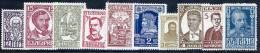 BULGARIA 1928 Historical Personalities Set LHM / *.  Michel 212-21 - Unused Stamps
