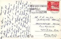 1955 SWISS SLOGAN -INTERNAT MUSIC FESTWOCHEN - Postmark Collection