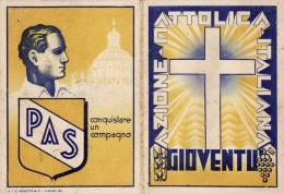IOVENTU'  ITALIANA DI  AZIONE CATTOLICA CRISTIANA /  Tessera Di Socio Effettico Per L'anno 1936 - Documenti Storici
