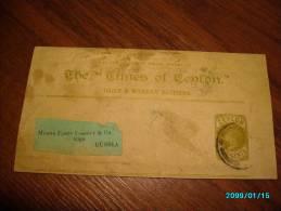 CEYLON   VINTAGE  POSTAL STATIONERY  WRAPPER THE TIMES OF CEYLON  COLOMBO  TO RUSSIA - Sri Lanka (Ceylon) (1948-...)