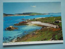 22498 PC: CORNWALL: ISLES OF SCILLY: Bryher Showing Tresco And  St. Mary's. - Inglaterra