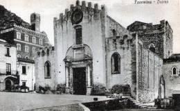 "Cartolina  D´epoca        "" Taormina -  Duomo "" - Messina"