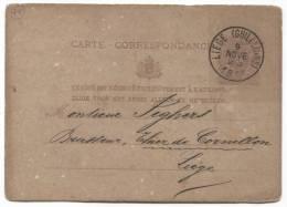 BELGIUM - LIEGE, 1877. Postcard - Belgique