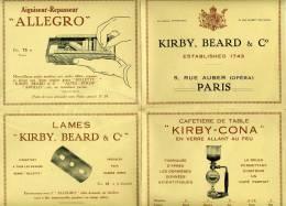 Paris,Kirby,Beard,catalogue, 8 Pages, Cafetières, Orfévrerie,,maroquinerie, Fumeurs,,pendules,aiguiseur-repasseur - Pubblicitari