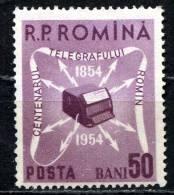 Rumania 1954 Mi. 1496 , Yvert 1369 , Scott # 1020 MNH - 1948-.... Republics