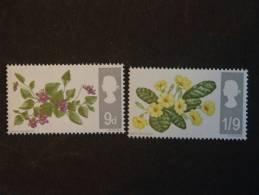 Grand Bretagne Groot Brittanië 1967 Fleurs Bloemen Yv 469 + 470 O - Plants