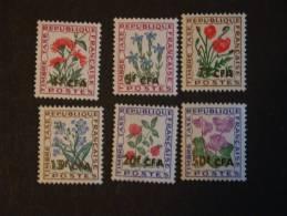 Réunion Bloemen Fleurs TAXE Yv 48-53 MNH ** - Végétaux