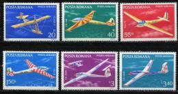 Rumania 1977 Mi. 3411-3416 , Yvert PA 245 PA 250 , Scott # C206-C211 MNH - Aéreo