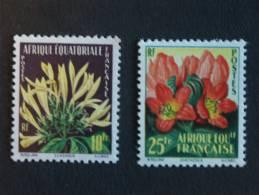 Afrique Equatoriale Française A.E.F. 1958 Flore Fleures Yv 243-244 MNH ** - Arbres