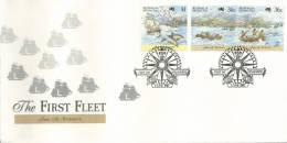 First Fleet Australian Bicentennial No 2 Of 5 Teneriffe 1787  FDI 3 June  1987  Melbourne Vic 3000 - Premiers Jours (FDC)