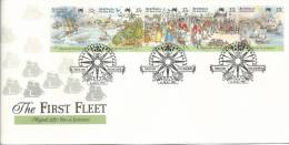 First Fleet Australian Bicentennial No 3 Of 5 Rio De Janeiro August  1787  FDI 6 Aug 1987  Melbourne Vic 3000 - Premiers Jours (FDC)
