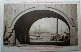 06 : Antibes - Le Fort Carré Et Le Port Vus Du Restaurant Félix - Publicité Chez Félix Au Port - Publicité - Animée - Antibes