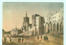 AVIGNON  Palais Des Papes , D'après Gravure - Avignon (Palais & Pont)