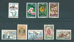 Gabon: 174/ 177 ** + 169/ 173 Oblit (le 173 **) - Gabon (1960-...)