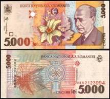 Romania #107, 5.000 Lei, 1998, UNC / NEUF - Rumänien
