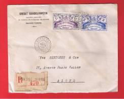 GUADELOUPE  //  ENV RECOMMANDE DE BASSE TERRE  //  POUR ALGER // 29 MARS 1948  // - Unclassified