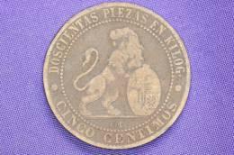 Spain - 5 Centimos - 1870 - [ 1] …-1931 : Kingdom