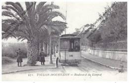 CPA--TOULON-MOURILLON - BOULEVARD DU LITTORAL (tramway)  Tram Gros Plan  ++++ - Toulon