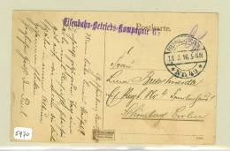 FELDPOST POSTKAART Uit 1916  WW-1 Van Vouziers FRANCE Naar BERLIJN IN DUITSLAND  (5970) - Marcofilie (Brieven)