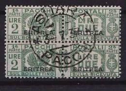 Ital. Eritrea, Paketmarke, MiNr. 28 Gestempeltes Paar (b110112) - Eritrea