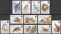 South Georgia 2002 - Faune, Oiseaux Divers, Pingouins - Série Courante - 12v Neufs*** (MNH) - Géorgie Du Sud