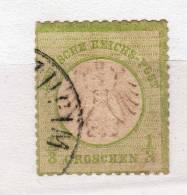 Empire - Deutsches Reich - YT No 2 - Mi No 2 - 1/3 Gr - Allemagne