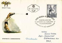 FDC 3-7-1967 - Sport - Hamerwerpen - Michel 1242 - FDC