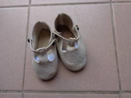 Chaussures De Bebe-pour Poupee Ou Poupon---longueur  11cm Dimensions Prises Sous La Semelle - Autres