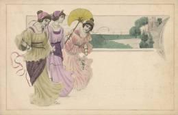Kirchner  ? Patella ?   Femmes Colorisées  Art Nouveau MM Vienne - Kirchner, Raphael