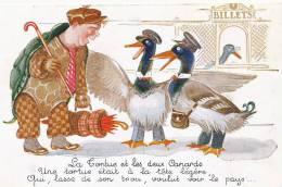 La Tortue Et Les 2 Canards La Fontaine Tortoise And Ducks Tortuga - Schildpadden