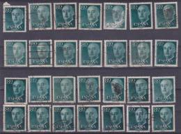 """Lote De Sellos Usados / Lot Of Used Stamps   """"GENERAL FRANCO 1955-56 EDIFIL 1152-  80 Céntimos""""    S-1316 - 1931-Hoy: 2ª República - ... Juan Carlos I"""