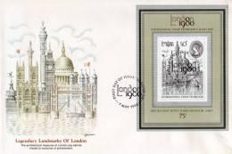 """Grande-Bretagne: 1980   Belle Fdc  Avec Bloc """"expositon Philatélique Internationale"""" - 1971-80 Ediciones Decimal"""