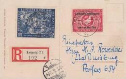 SBZ R-AK Mif Minr.231,233 Leipzig 14.7.49 - Sowjetische Zone (SBZ)