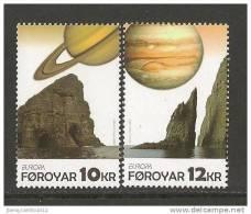 """FÄROE ISLANDS /FØROYAR / FÄROËR / ILES FÉROÉ - EUROPA 2009  - TEMA  """"ASTRONOMIA"""" - SET Of 2 STAMPS PERFORATED - 2009"""