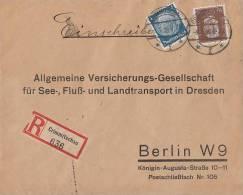 DR R-Brief Mif Minr.420,483 Crimmitschau 8.1.34 - Briefe U. Dokumente