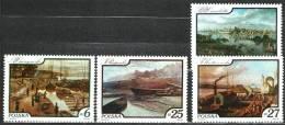 Pologne (Poland) 1984, Y&T2733-36, Tableaux De Peintres Divers - Vue De La Vistule - 1944-.... Repubblica