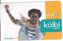 COSTA RICA - Kolbi Prepaid Card C2500, Used - Costa Rica