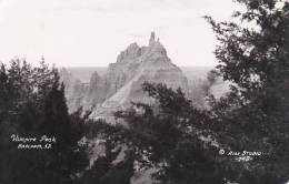 South Dakota Vampire Peak Badlands 1957 Real Photo RPPC - Brookings