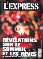 L´EXPRESS N°2120 Du 20-26/02/1992 - Révélations Sur Le Sommeil Et Les Rêves Avec Professeur Jouvet - Informations Générales