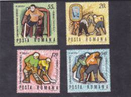HOCKEY SUR GLACE 1970 Yv.2513-16,Mi.2820-23,**MNH ROUMANIA. - 1948-.... Republics