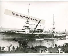 - MARSEILLE - Bateau De Guerre Français, Marine Nationale, Dans Le Port, Reproduction, 1900/20, Splendide, Scans, TBE. - Reproductions