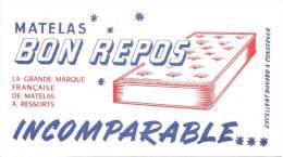 Buvard  Matelas Bon Repos  La Grande Marque Française De Matrelas A Ressorts  Incomparable - Buvards, Protège-cahiers Illustrés